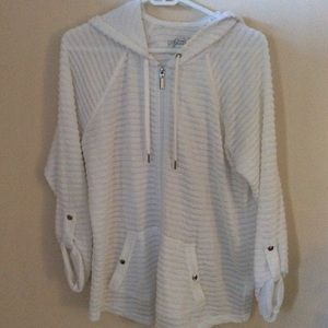 Style & Co Sport White Zip Up